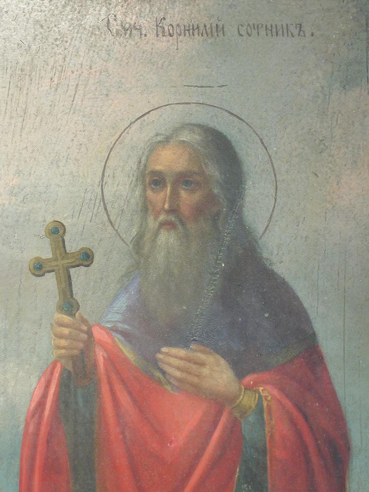 икона избранные святые корнилий сотник емилиан домника Отличное